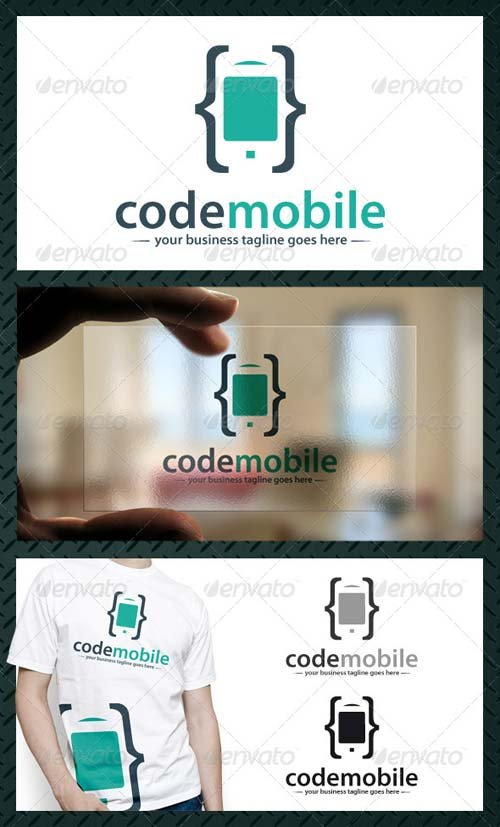 GraphicRiver Phone Code Logo Template