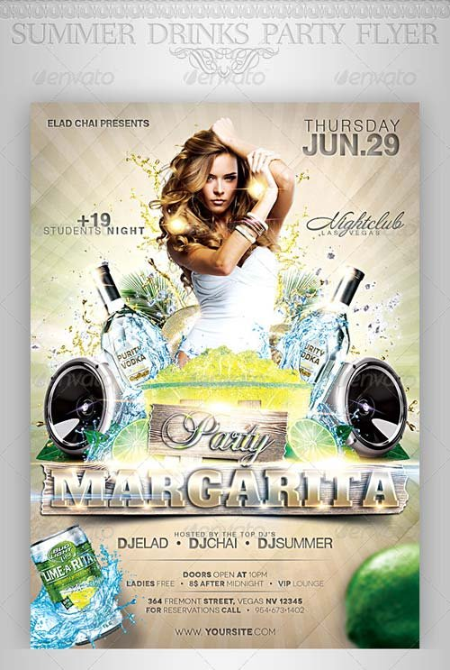 GraphicRiver Summer Drinks Event Party Flyer