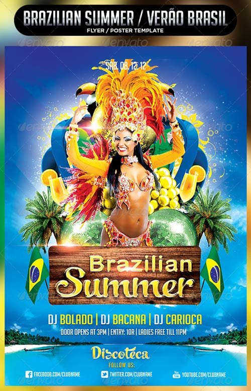 GraphicRiver Brazilian Summer Flyer Template