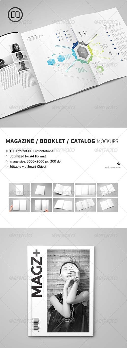 GraphicRiver Magazine / Catalog / Booklet Mock-Up