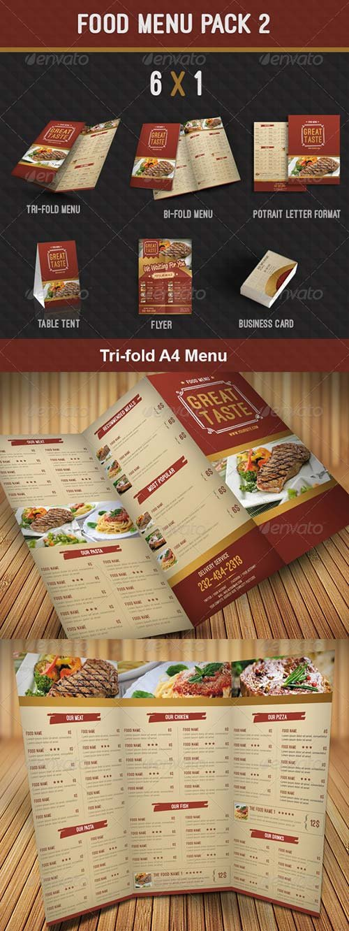 GraphicRiver Food Menu Pack 2