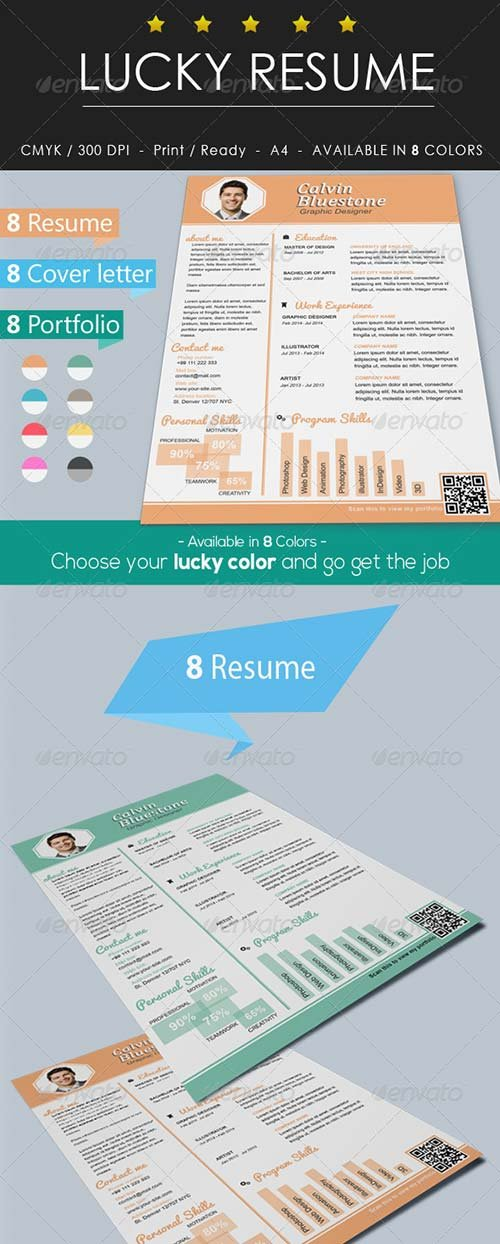 GraphicRiver Lucky Resume