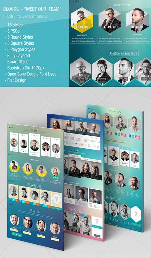 GraphicRiver 15 Blocks - Meet Our Team