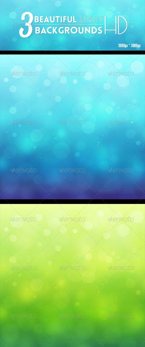 GraphicRiver 3 Amazing Beautiful Light Backgrounds HD