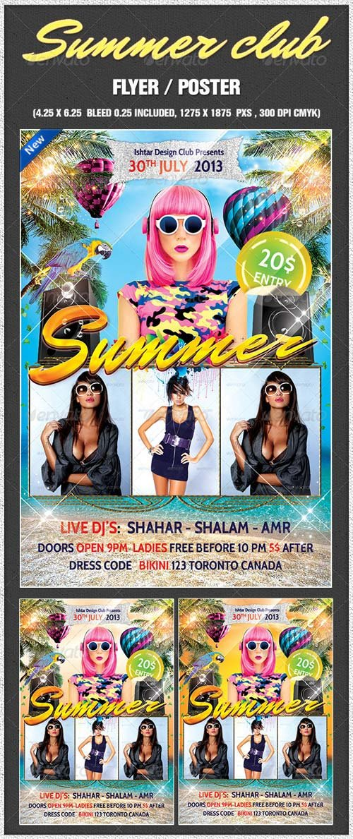 GraphicRiver Summer house club party flyer