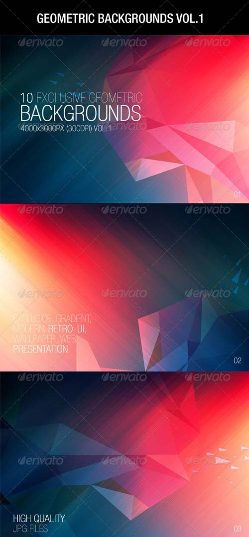 GraphicRiver Geometric Backgrounds Vol.1
