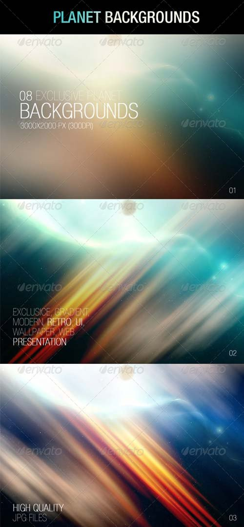 GraphicRiver Planet Backgrounds