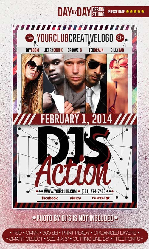 GraphicRiver DJ's Action Flyer #3