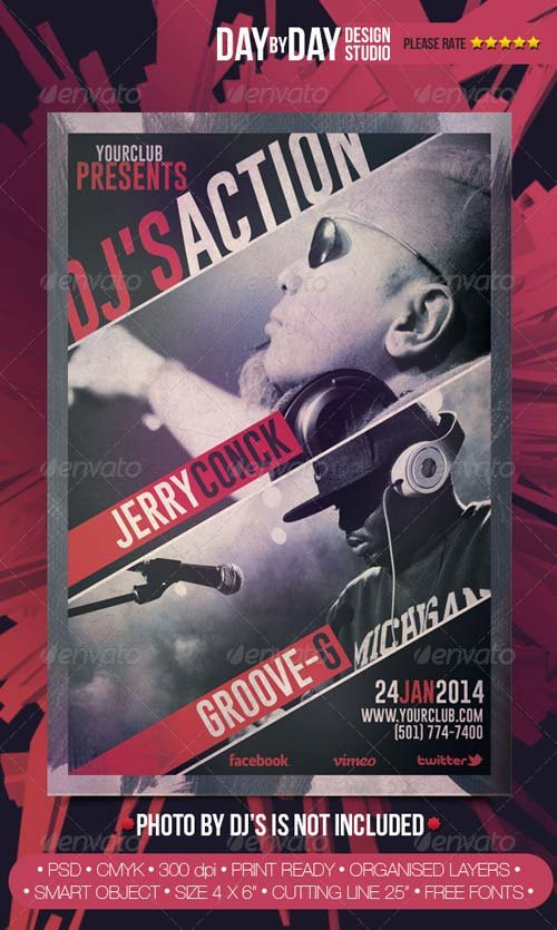 GraphicRiver DJ's Action Flyer #2