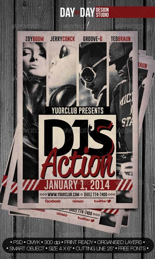 GraphicRiver DJ's Action Flyer