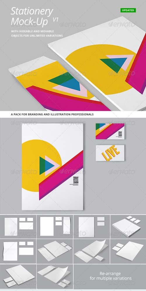 GraphicRiver Stationery and Branding Mock Up