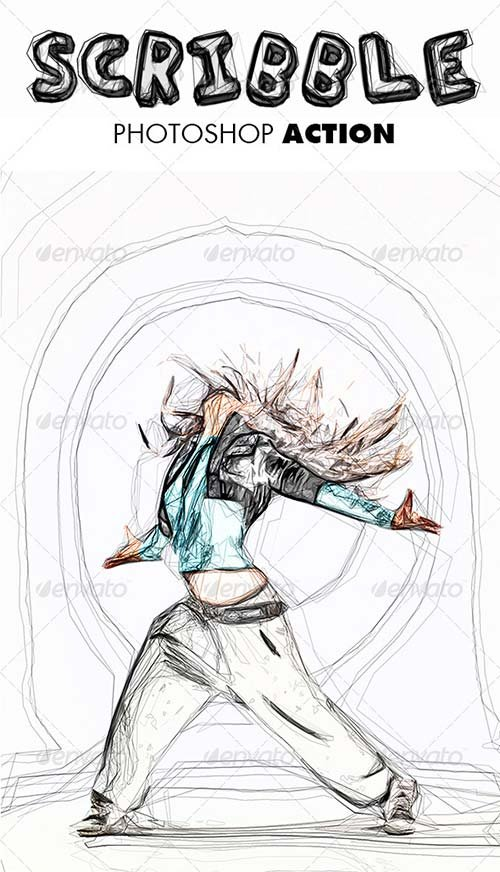 GraphicRiver Scribble Photoshop Action