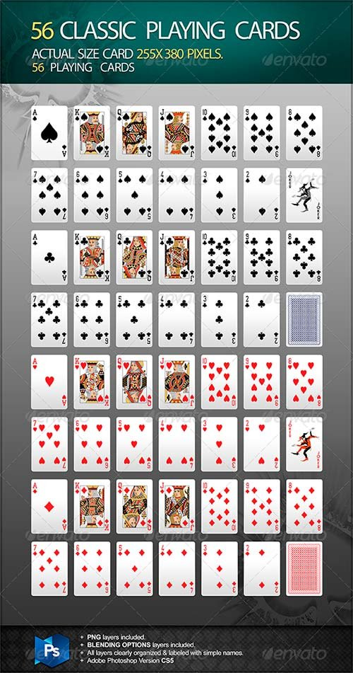 GraphicRiver 56 Classic Playing Cards