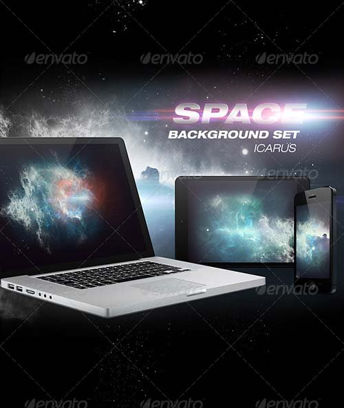 GraphicRiver Icarus Space Background Set
