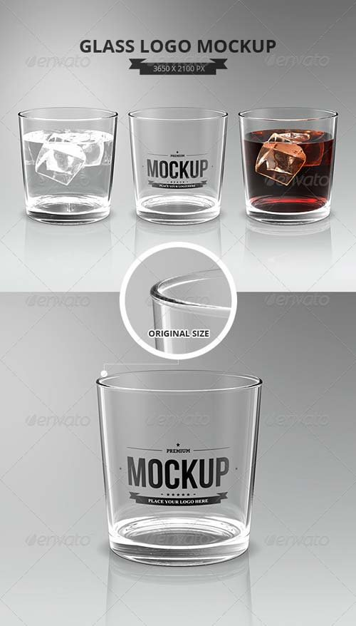 GraphicRiver Glasses Logo Mockup
