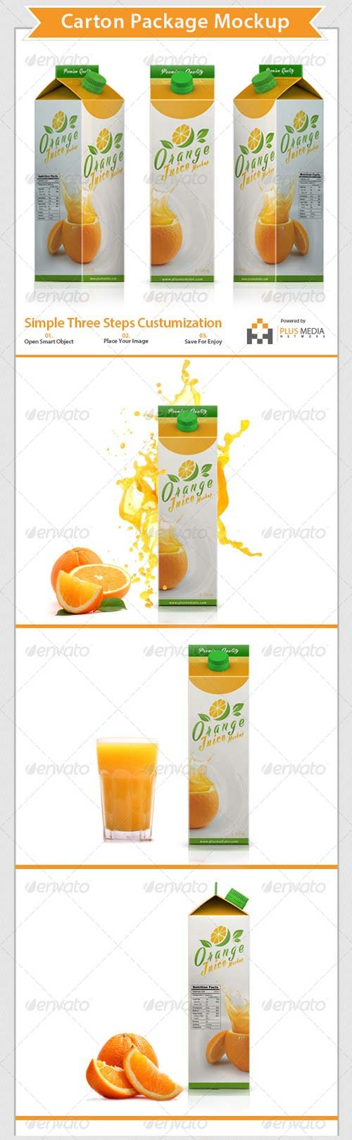 GraphicRiver Carton Package for Juice Mockup