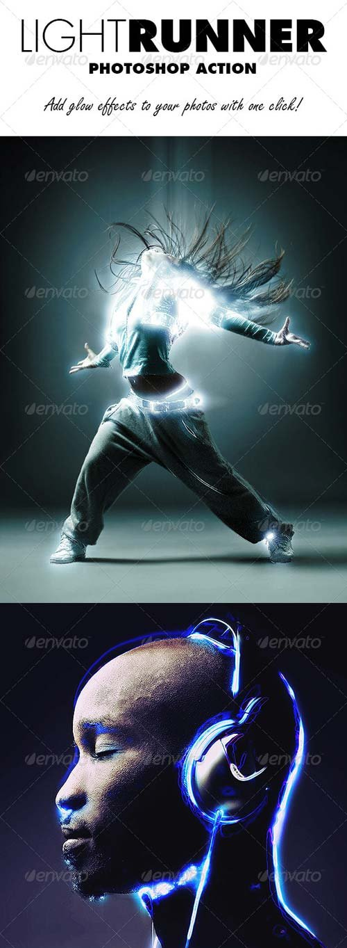 GraphicRiver Light Runner Photoshop Action