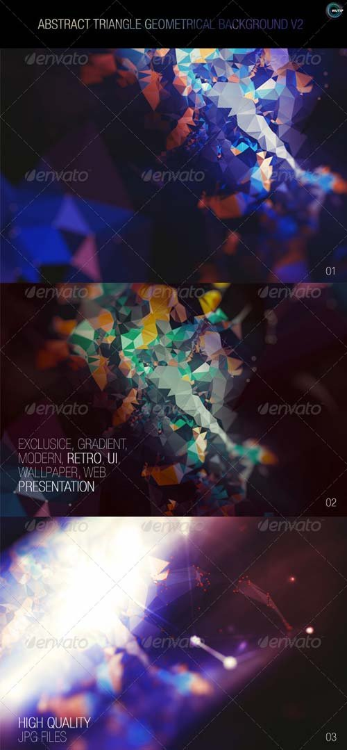 GraphicRiver Abstract Triangle Geometrical Background V2