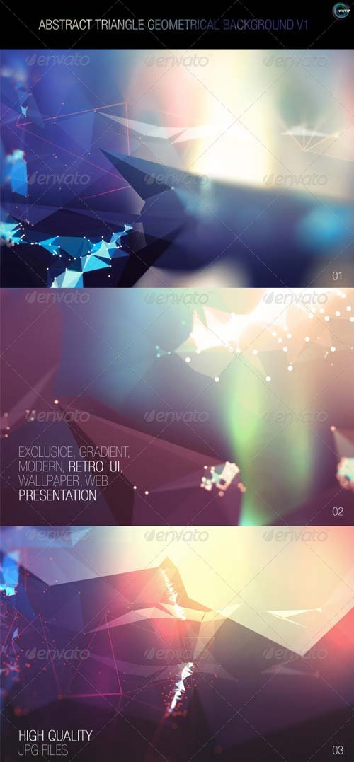 GraphicRiver Abstract Triangle Geometrical Background V1