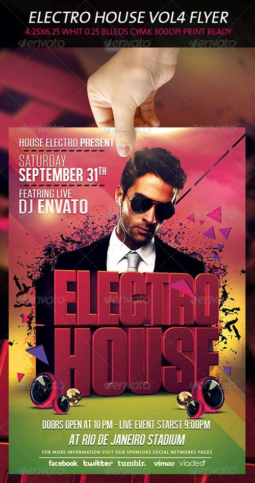 GraphicRiver Electro House Flyer Vol 4