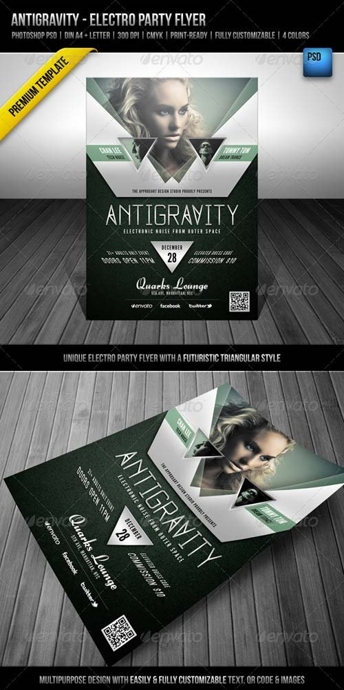 GraphicRiver Antigravity - Electro Party Flyer