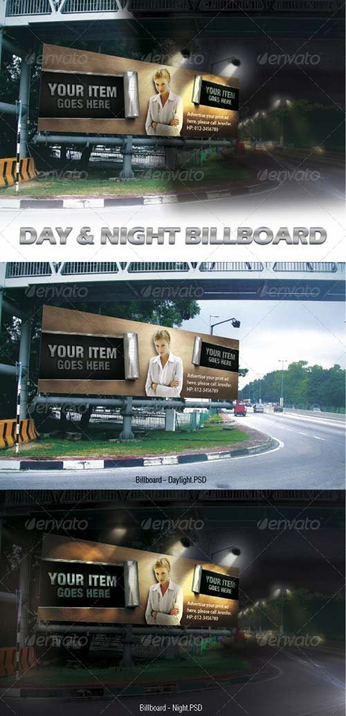 GraphicRiver Day & Night Billboard Mock-ups