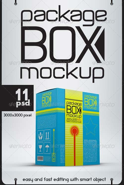 GraphicRiver Package Box Mock Ups