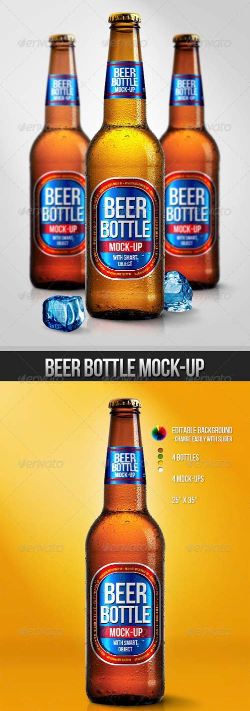 GraphicRiver Beer Bottle Mock-Ups