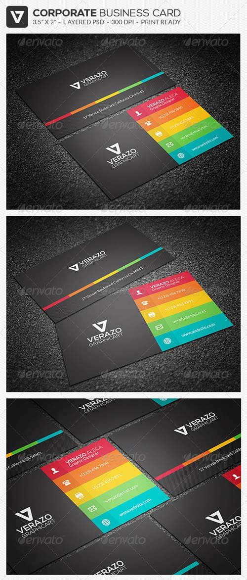 GraphicRiver Modern & Flat Business Card 32