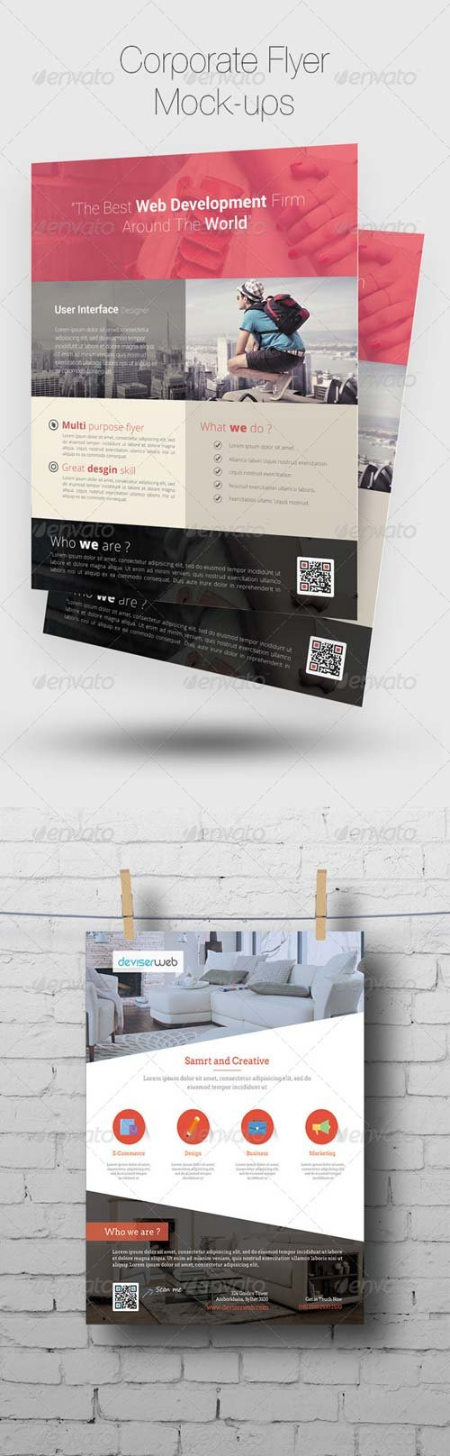 GraphicRiver Flyer/Poster Mock-ups 7604070