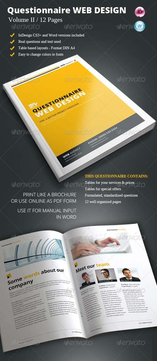 GraphicRiver Questionnaire Web Design Vol. II