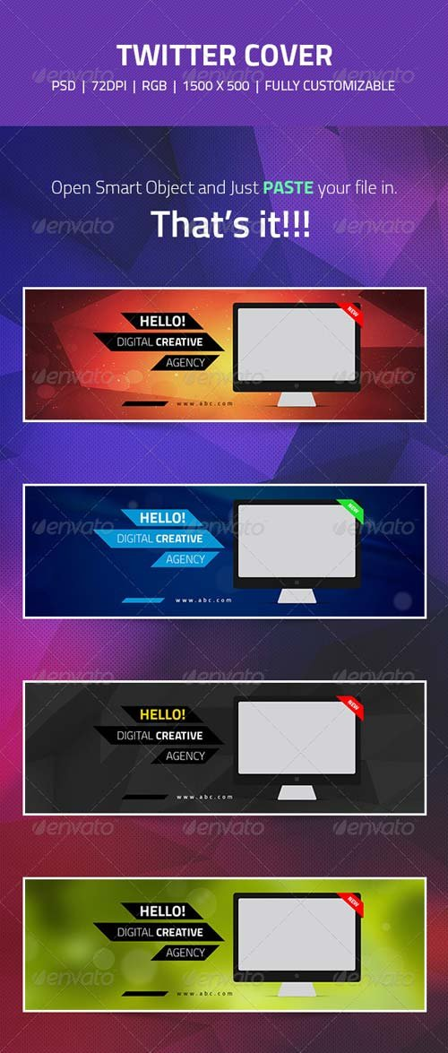 GraphicRiver Twitter Header Cover Designs - Web/IT Companies