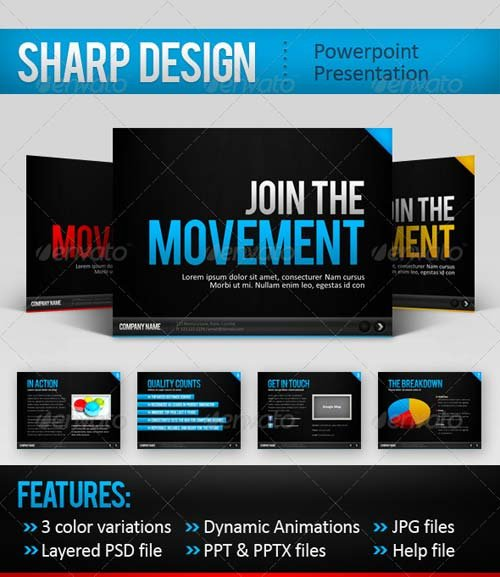 GraphicRiver SharpDesign Powerpoint Template