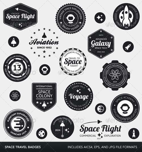 GraphicRiver Space labels and badges