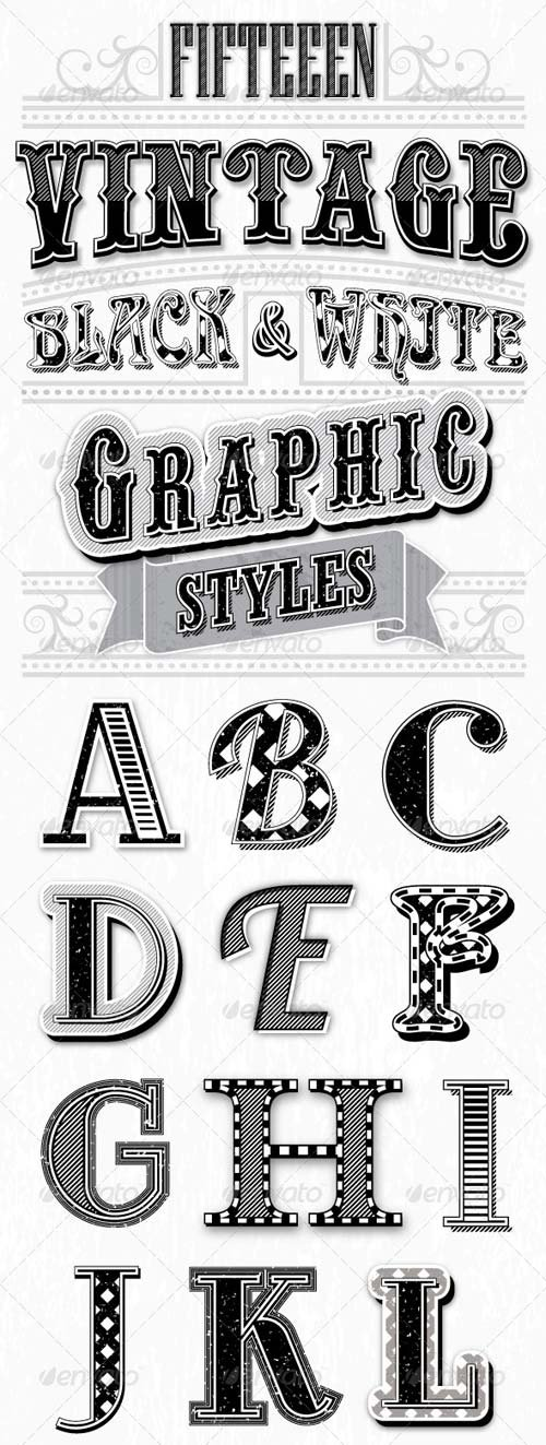 GraphicRiver Vintage Black and White Styles
