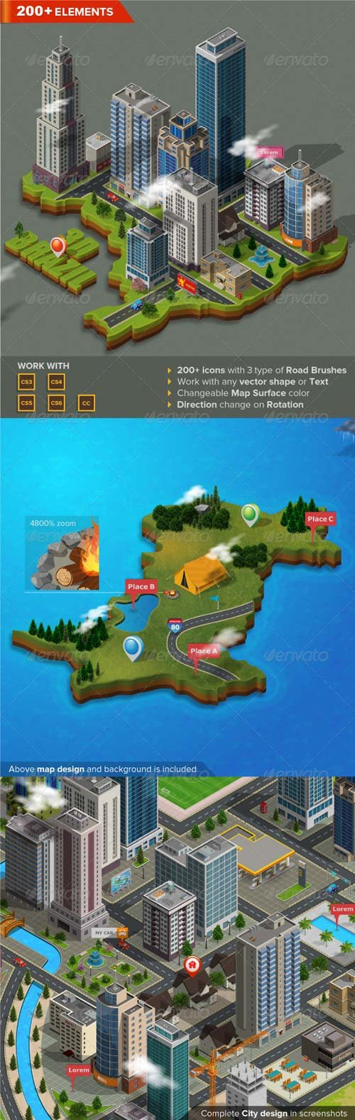 GraphicRiver 3D City and Map Generator