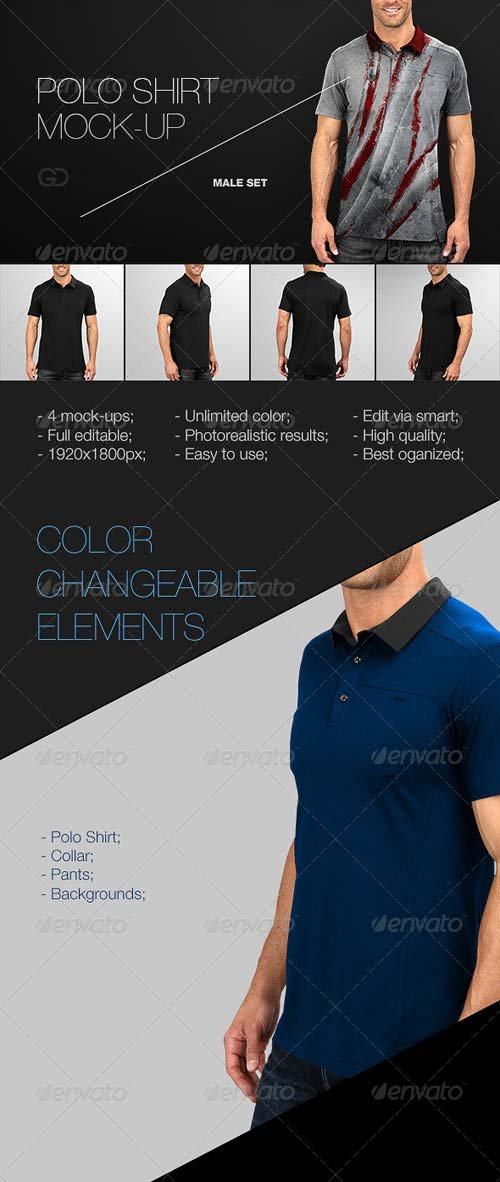 GraphicRiver Mens Polo Shirt Mock-Up