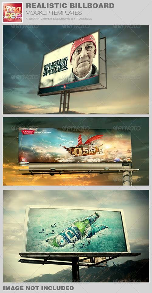 GraphicRiver Realistic Billboard Mockup Template