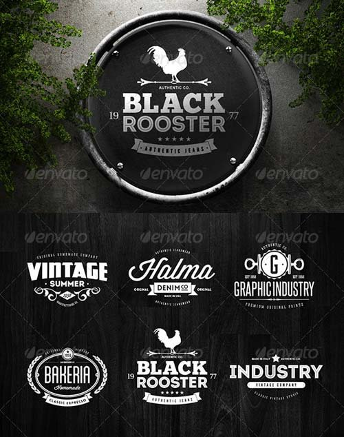 GraphicRiver Badges & Logos Vol.06