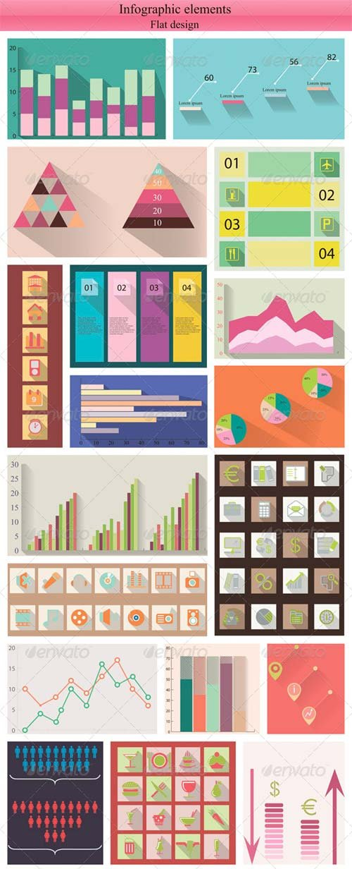 GraphicRiver Flat Infographic Elements
