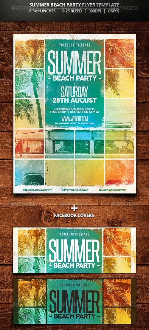 GraphicRiver Summer Beach Party Flyer Template 7888782