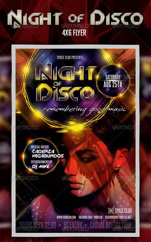 GraphicRiver A night of Disco Flyer