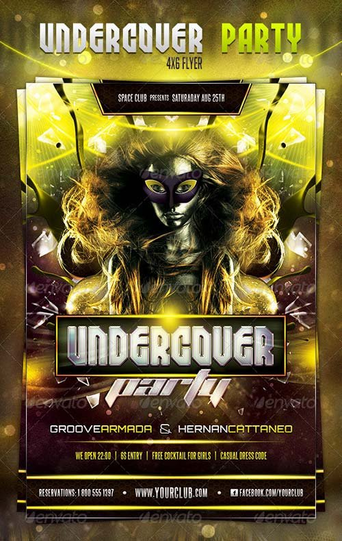 GraphicRiver Undercover Party Flyer