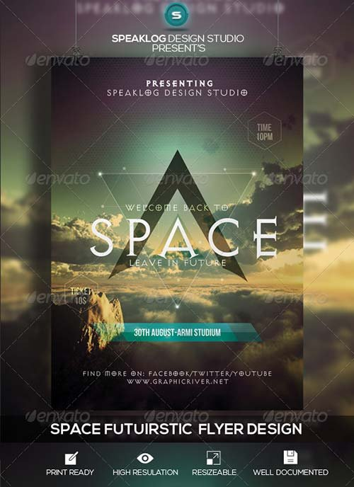 GraphicRiver Space Futuristic Flyer Design