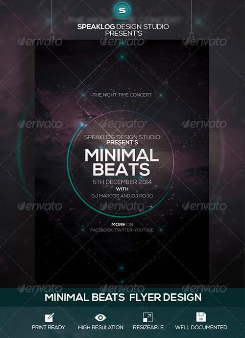GraphicRiver Minimal Beat's Event Flyer Design