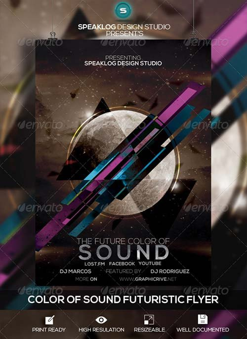 GraphicRiver Futuristic Sound Flyer Design