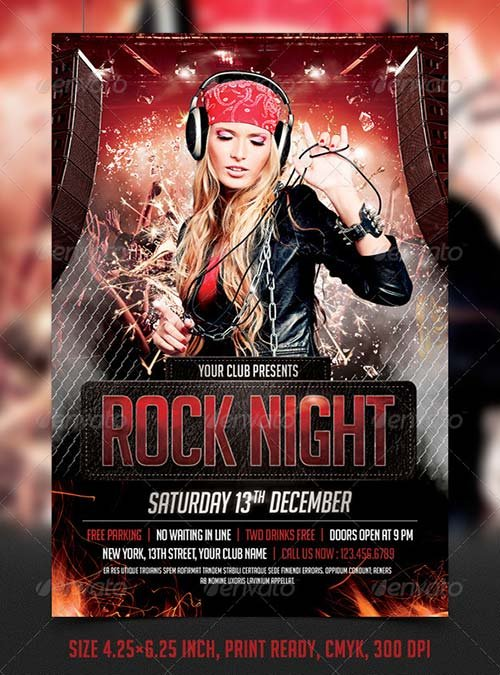 Flyer Templates  Graphicriver Fight  Mma  Ufc Night Flyer