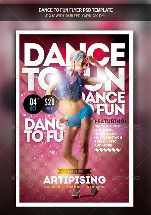 GraphicRiver Dance To Fun Flyer