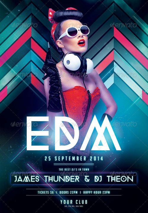 GraphicRiver EDM Party Flyer