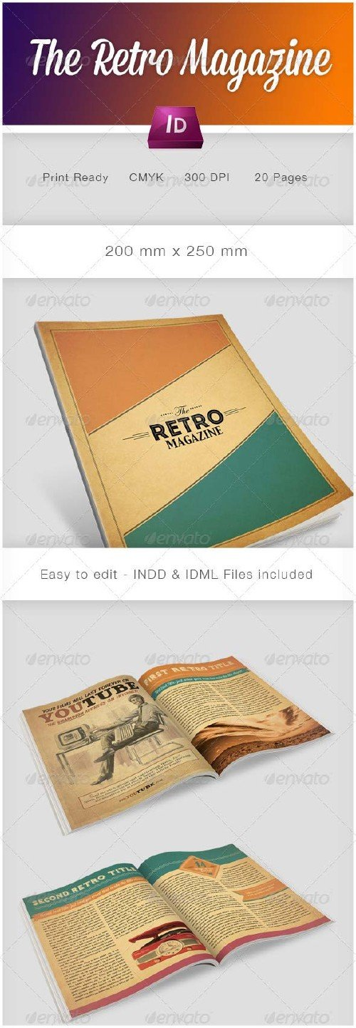 GraphicRiver The Retro Magazine
